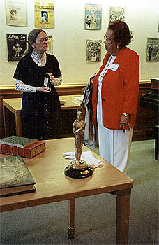 Mildred Varnado (right) with a curator at the Lilly Rare Books Library, Bloomington, Indiana